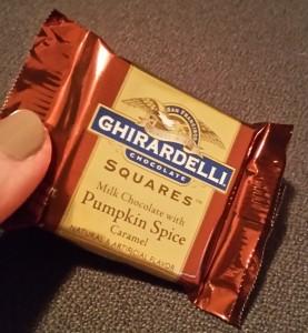 Ghirardelli Squares in Pumpkin Spice Caramel